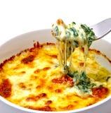 Espinafre cozido com queijo Imagem de Stock