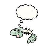 espinas de pez de la historieta stock de ilustración