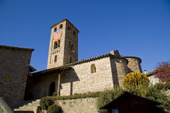 Espinelves church, Spain Stock Photo