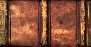 Espinha de couro do livro Fotografia de Stock Royalty Free