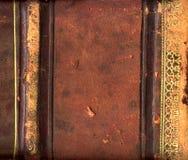 Espinha de couro do livro Imagens de Stock
