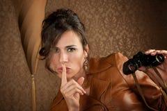 Espião bonito Imagens de Stock