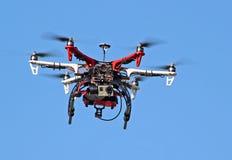 Espião da câmara de vídeo do zangão do voo Imagens de Stock Royalty Free