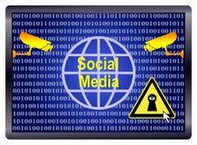 Espion social de media illustration libre de droits