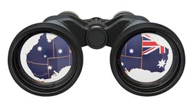 Espionage in Australia concept, 3D rendering. Isolated on white background royalty free illustration
