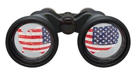 Espionage in the USA concept, 3D rendering. Isolated on white background stock illustration