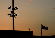 Espionaje en americanos Imagen de archivo