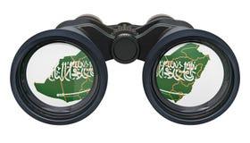 Espionaje en el concepto de la Arabia Saudita, representación 3D stock de ilustración