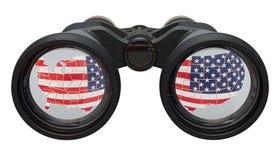 Espionaje en el concepto de los E.E.U.U., representación 3D stock de ilustración