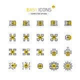 Espionaje fácil del ordenador de los iconos 47d stock de ilustración