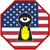 Espionnage d'arrêt des Etats-Unis illustration de vecteur