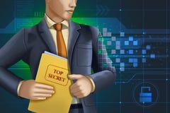Espionnage d'entreprise en ligne illustration de vecteur