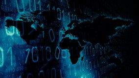 Espionnage d'ordinateur en monde de cyber illustration libre de droits