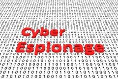 Espionnage de Cyber illustration libre de droits