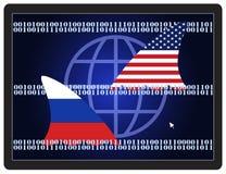 Espionnage de guerre froide illustration libre de droits