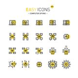 Espionnage facile d'ordinateur des icônes 47d illustration stock