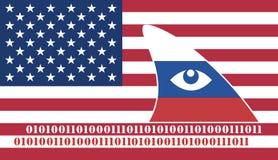 Espionnage russe contre les Etats-Unis illustration de vecteur