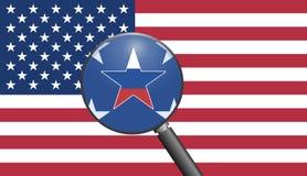 Espionnage russe contre les Etats-Unis illustration stock