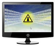 Espionnage sur des utilisateurs d'ordinateur de nuage illustration libre de droits