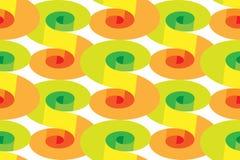 Espirais com efeito do volume Teste padrão colorido sem emenda Fundo abstrato geométrico Apropriado para a matéria têxtil, tela,  Fotos de Stock