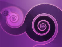 Espirais de Swirly Imagens de Stock Royalty Free