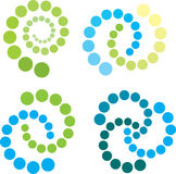 Espirais em verde e no azul Imagem de Stock Royalty Free