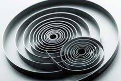 Espirais metálicas abstratas Imagens de Stock