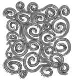 Espirais pretas das texturas originais Fotografia de Stock Royalty Free