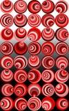 Espirais retros vermelhas malucos   ilustração stock