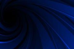 Espiral 3D, azul en negro Imagen de archivo