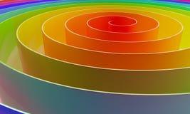 Espiral 3D colorida abstrata Fotografia de Stock Royalty Free
