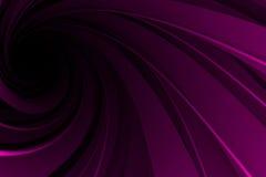 Espiral 3D, rosado en negro Fotografía de archivo