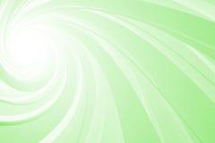 Espiral 3D, verde en blanco Foto de archivo