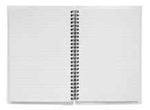 Espiral aberta - sagacidade encadernada do caderno Fotos de Stock Royalty Free