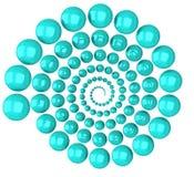 Espiral abstracto 3d Fotografía de archivo