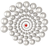 Espiral abstracto 3d con el centro rojo Fotografía de archivo libre de regalías