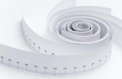 Espiral abstracto de la regla Imagen de archivo