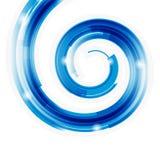 Espiral abstracto de la tecnología con el fondo del bokeh. Foto de archivo libre de regalías