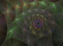 Espiral abstracto del fractal imagen de archivo libre de regalías