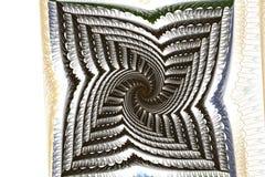 Espiral abstracto del negro del fractal en un blanco Fotografía de archivo