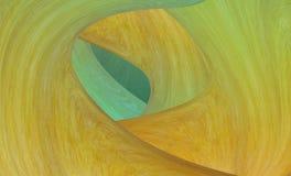 Espiral abstracto del túnel que se entrelaza alrededor del color azul verde de madera de la textura de la pared stock de ilustración