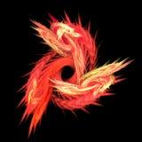 Espiral abstrata da flama ilustração stock