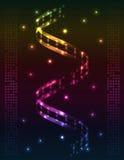 Espiral abstrata - fundo colorido Imagem de Stock