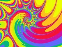 Espiral acentuado del arco iris Fotografía de archivo