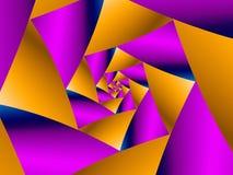 Espiral acodado Imagen de archivo libre de regalías