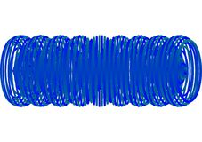 Espiral azul abstracto Foto de archivo