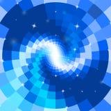 Espiral azul abstracto del mosaico Imagenes de archivo