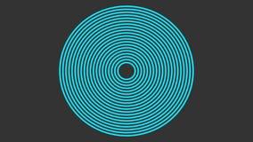Espiral azul con las líneas tejidas