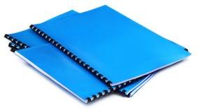 Espiral azul - cuadernos encuadernados Fotografía de archivo libre de regalías