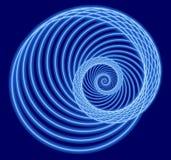 Espiral azul del fractal Imagen de archivo libre de regalías
